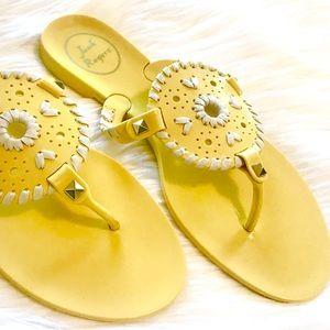 Jack Rogers Yellow Georgia Jelly  Sandals